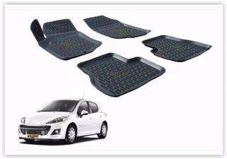Paspas 3d X-mat Havuzlu Peugeot 207 06-13 Siyah resmi