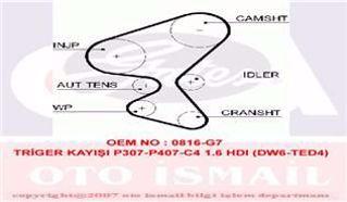 Trıger Kayısı 137x254 Peugeot Partner Tepe 206 207 307 308 407 1.6hdı Ber C2 C3 C4 C5 Jumpy Ct1092 resmi