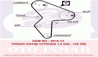 Eksantrık Kayısı 136x254 Cıtroen Ax Saxo Xsara Zx Peugeot 106 1.5d 8v 94-0 Lada Samara Nıssan Ct9 resmi