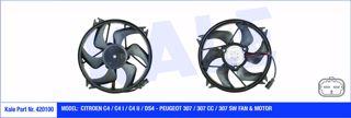 Fan Motoru + Pervane Cıtroen C4 I-ıı-ds4 Peugeot P307-p307cc-p307sw 200w-385mm resmi