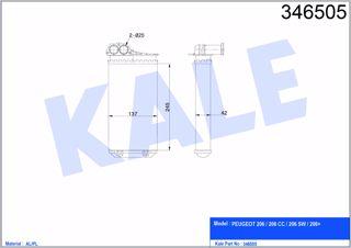 Kalorifer Radyatörü Peugeot 206-206 Cc-206 Sw-206+ resmi