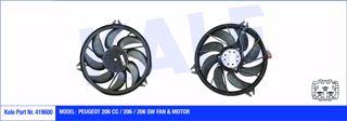 Fan Motoru Davlumbazlı Peugeot 206cc-206-206 Sw 200w-392mm resmi