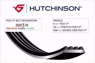 1155 K 5 Kanallı Kayış Cıtroen Jumper Peugeot Boxer Fıat Ducato 1.9d Renault Mgn 2.0 -golfııı Pas resmi