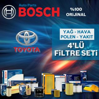 Toyota Corolla 1.4 D4d Bosch Filtre Bakım Seti 2007-2016 resmi