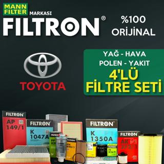 Toyota Corolla 1.4 D4d Filtron Filtre Bakım Seti 2007-2016 resmi