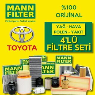 Toyota Corolla 1.4 D4d Mann-filter Filtre Bakım Seti 2007-2016 resmi