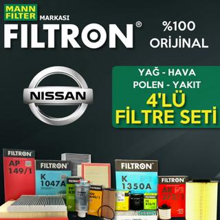 Nissan Qashqai 1.5 Dcı Filtron Filtre Bakım Seti 2007-2013 resmi