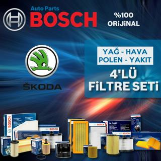 Skoda Octavia 1.6 Tdı Bosch Filtre Bakım Seti 2013-2017 resmi