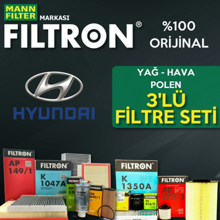 Hyundai Accent Blue 1.6 Crdı Filtron Filtre Bakım Seti 2011-2016 resmi