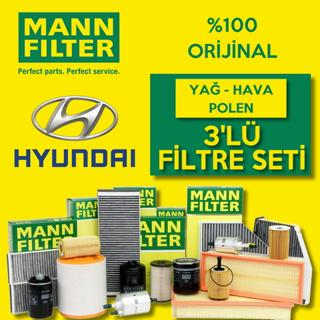 Hyundai Accent Blue 1.6 Crdı Mann-filter Filtre Bakım Seti 2011-2016 resmi