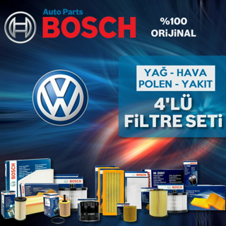 Vw Polo 1.4 Tdı Bosch Filtre Bakım Seti 2014-2017 resmi