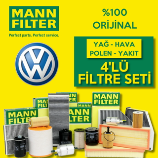 Vw Polo 1.4 Tdı Mann-filter Filtre Bakım Seti 2014-2017 resmi