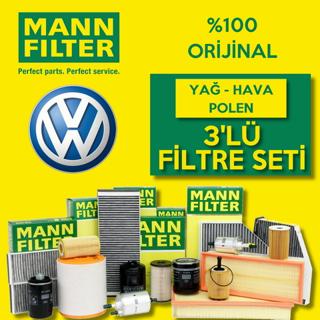 Vw Polo 1.4 Mann-filter Filtre Bakım Seti 2001-2008 resmi