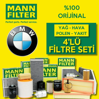 Bmw 3.20 D Mann-filter Filtre Bakım Seti e90 2006-2012 resmi