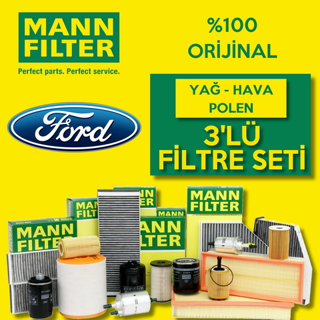 Ford Fiesta 1.4 Tdcı Euro 4 Mann-filter Filtre Bakım Seti 2002-2011 resmi