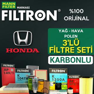 Honda Civic 1.6 Fb7 Filtron KARBONLU Filtre Bakım Seti 2013-2016 resmi