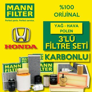 Honda Civic 1.6 Fb7 Mann-Filter KARBONLU Filtre Bakım Seti 2013-2016 resmi