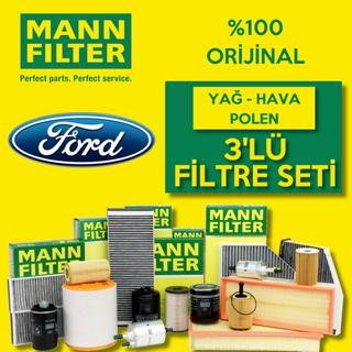Ford Focus 1.6 Ti-vct Mann-filter Filtre Bakım Seti 2011-2015 resmi
