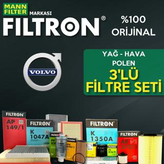 Volvo S40 1.6 Dizel Filtron Filtre Bakım Seti 2007-2012 resmi