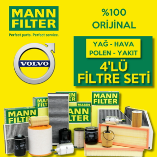 Volvo S40 1.6 Dizel Mann-filter Filtre Bakım Seti 2007-2012 resmi