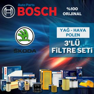 Skoda Fabia 1.4 Bosch Filtre Bakım Seti 2000-2008 resmi