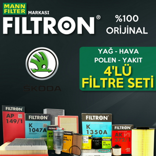 Skoda Fabia 1.4 Filtron Filtre Bakım Seti 2000-2008 resmi