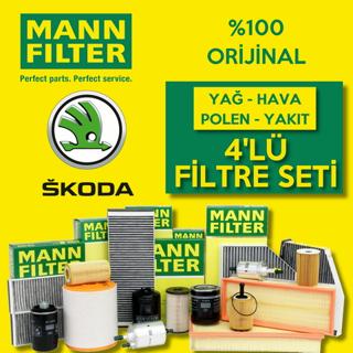 Skoda Fabia 1.4 Mann-filter Filtre Bakım Seti 2000-2008 resmi