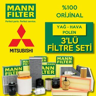 Mitsubishi Lancer 1.6 Mann-filter Filtre Bakım Seti 2004-2008 resmi