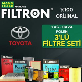 Toyota Corolla 1.6 Filtron Filtre Bakım Seti 2009-2016 resmi