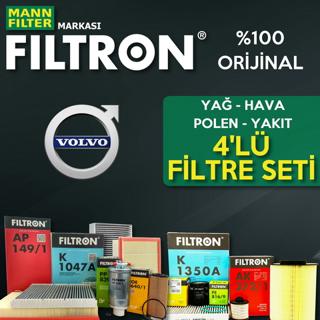 Volvo S60 1.6 Dizel Filtron Filtre Bakım Seti 2011-2015 resmi