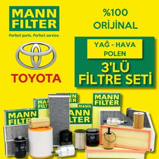 Toyota Auris 1.6 Mann-filter Filtre Bakım Seti 2010-2016 resmi
