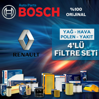 Renault Clio 3 1.5 Dcı Bosch Filtre Bakım Seti 2005-2012 resmi
