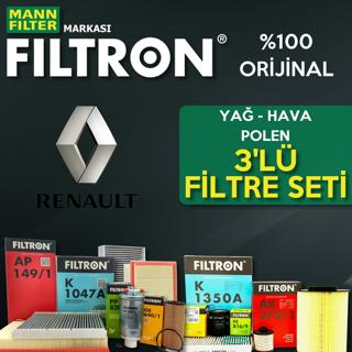 Renault Clio 3 1.5 Dcı Filtron Filtre Bakım Seti 2005-2012 resmi