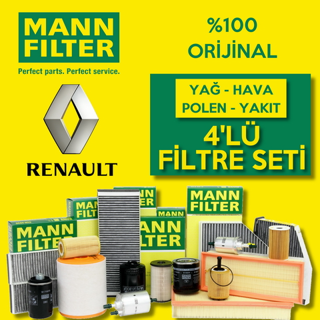 Renault Clio 3 1.5 Dcı Mann-filter Filtre Bakım Seti 2005-2012 resmi