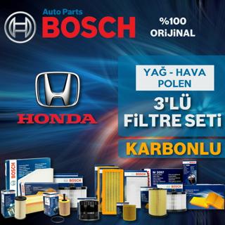 Honda Civic 1.6 Fb7 Bosch KARBONLU Filtre Bakım Seti 2013-2016 resmi