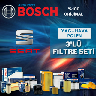 Seat Leon 1.2 Tsı Bosch Filtre Bakım Seti 2013-2017 Cjz resmi