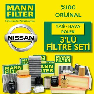 Nissan Micra 1.2 Mann-filter Filtre Bakım Seti k12 2003-2010 resmi