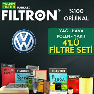 Vw Caddy 1.6 Tdı Filtron Filtre Bakım Seti 2010-2015 resmi
