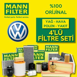 Vw Caddy 1.6 Tdı Mann-Filter Filtre Bakım Seti 2010-2015 resmi