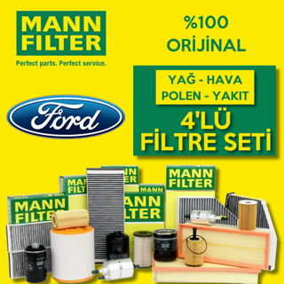 Ford Focus 1.6 Tdcı Mann-filter Filtre Bakım Seti e5 2011-2015 resmi