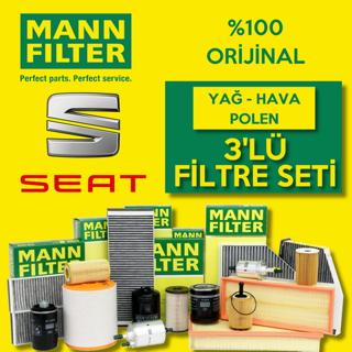 Seat Cordoba 1.4 Tdı Mann-filter Filtre Bakım Seti 2003-2009 resmi