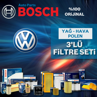 Vw Jetta 1.6 Tdı Bosch Filtre Bakım Seti 2011-2015 resmi