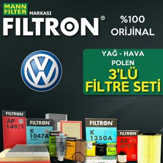 Vw Jetta 1.6 Tdı Filtron Filtre Bakım Seti 2011-2015 resmi