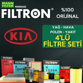 Kia Sorento 2.5 Crdı Filtron Filtre Bakım Seti 2003-2006 140hp resmi