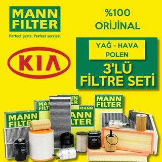 Kia Sorento 2.5 Crdı Mann-filter Filtre Bakım Seti 2003-2006 140hp resmi