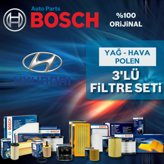Hyundai Accent Era 1.5 Crdı Bosch Filtre Bakım Seti 2006-2012 resmi