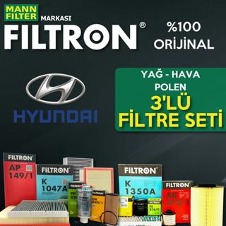 Hyundai Accent Era 1.5 Crdı Filtron Filtre Bakım Seti 2006-2012 resmi