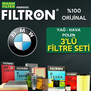 Bmw 3.20 D Filtron Filtre Bakım Seti e46 2002-2005 resmi