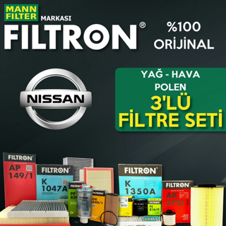 Nissan Micra 1.2 Filtron Filtre Bakım Seti k12 2003-2010 resmi