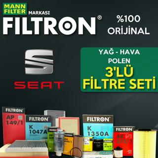 Seat Leon 1.2 Tsı Filtron Filtre Bakım Seti 2013-2017 Cjz resmi